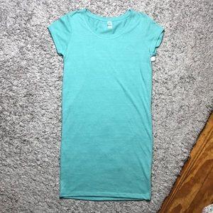 NWT alternative teal shirt sleeve T-shirt  dress